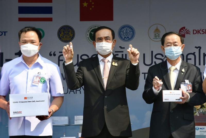中國科興疫苗抵泰總理親自迎接