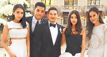 孫瑩瑩黑白婚紗 比佛利山嫁百億小開  