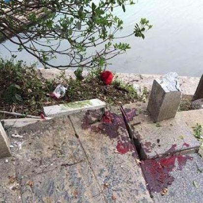 廣西桂林落石意外 8台旅客輕傷 | 現場血跡斑斑