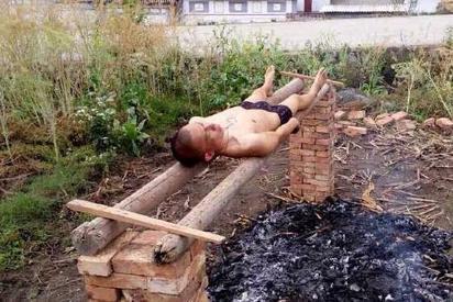 沒錢就醫 男迷信火烤能殺癌細胞 | 賈檳琿躺在木頭上讓火烤