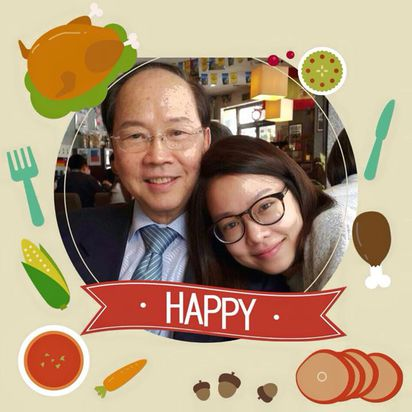 前大學生班底Cindy 留遺書輕生   父親彭作奎在個人臉書PO與女兒Cindy合照