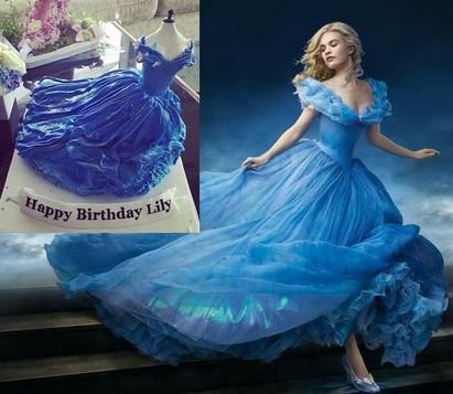 蛋糕路上遇勁敵 Jolin:姐.激不得!   莉莉詹姆斯的藍禮服蛋糕