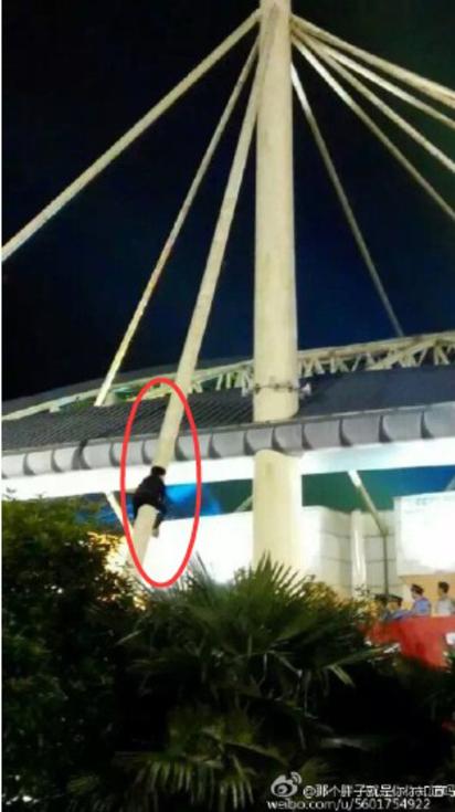 非看演唱會不可 女粉絲冒險爬鋼柱 |
