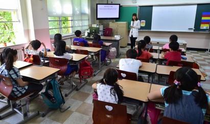 南韓MERS疫情擴散 209學校停課 | 南韓學生上課狀況。