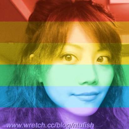 臉書彩虹洗版 蔡英文.高嘉瑜跟進 | 高嘉瑜的臉書大頭照,換上彩虹版。