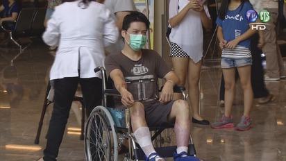 塵爆首重傷患者出院 勉勵病友「加油!」  