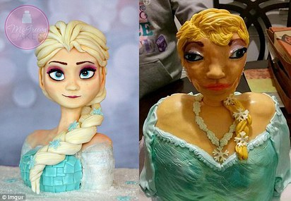 這不是「Elsa」! 蛋糕師傅搞錯了嗎? |