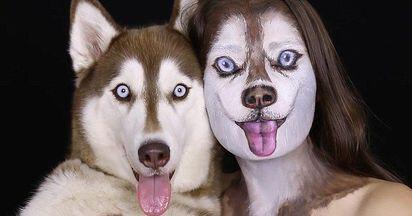 愛狗成癡 女把自己變成哈士奇 |