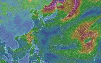 繼彩虹後輕颱彩雲生成 估朝日本前進 |