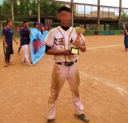 2交大生買球衣遇死劫 同學目睹嚇傻痛哭!   交大棒球隊選手巫同學不幸身亡。翻攝巫男臉書