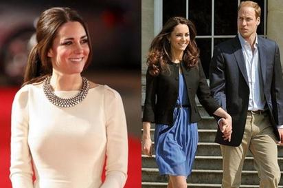 凱特王妃不戴王冠? 原因竟然是...   凱特(左)選帶的平價仿鑽項鍊.還曾造成缺貨現象.(圖片擷自NY Daily News)