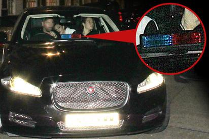 娜姊耍特權?! 演唱會散場用假警車開路... | 瑪丹娜被爆用假警車開路(翻攝英國太陽報)