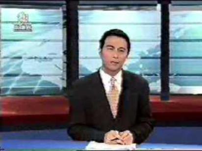香港《亞視》前主播 鄧景輝墜樓身亡 | 香港《亞視》前主播鄧景輝生前播報的畫面/翻攝網路