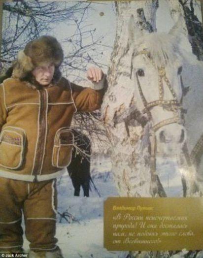 俄國總統的萬種風情! 普丁寫真月曆超搶手 | (翻攝每日郵報)