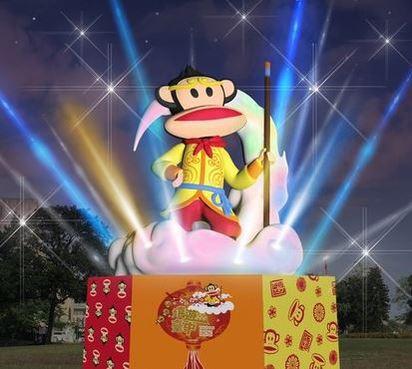 不只有「福祿猴」 全台6大元宵燈會比一比!   台中公園與清水兩個燈區的「大嘴猴」