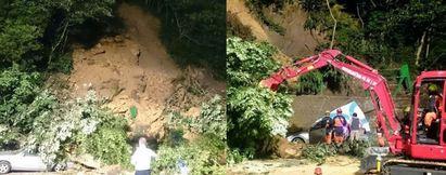 新北深坑土石坍方埋5車 警消開挖搜救中 | 警消緊急開挖搜救