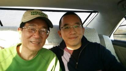 不去了! 扁辦:陳水扁伉儷婉拒出席就職國宴   陳水扁前總統與兒子陳致中合照。
