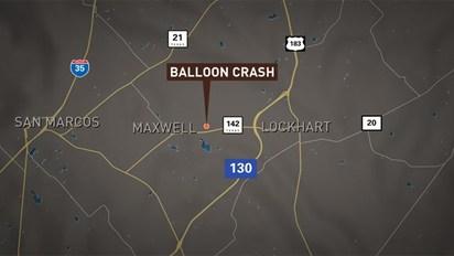 【華視起床號】德州熱氣球墜毀至少16死 無人生還 | 事故發生地點。(翻攝 KENS 5 電視台)