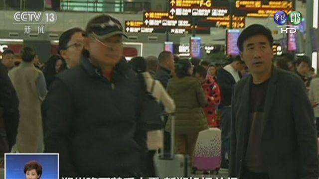 民眾因大雪被困機場.