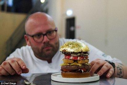 世界最貴漢堡價7萬 奢華食材大開眼界   (翻攝每日郵報)