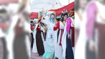 林志玲摩洛哥選美 竟遇沙塵暴一度失聯 | 林志玲參加摩洛哥選美比賽豔冠群芳。(翻攝自YOUTUBE)