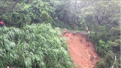 雨襲彰化! 花壇路塌、八卦山139線土石流 | 三清宮步道土石流。