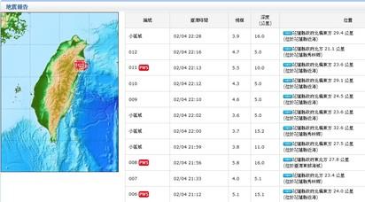 花蓮入夜震不停! 最新餘震22:16規模4.7 最大震度5級 |