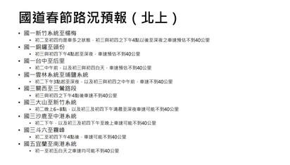 春節國道11地雷路段塞 高公局:今上午10點就有車潮 | 國道春節路況預報(北上)