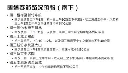 春節國道11地雷路段塞 高公局:今上午10點就有車潮 | 國道春節路況預報(南下)