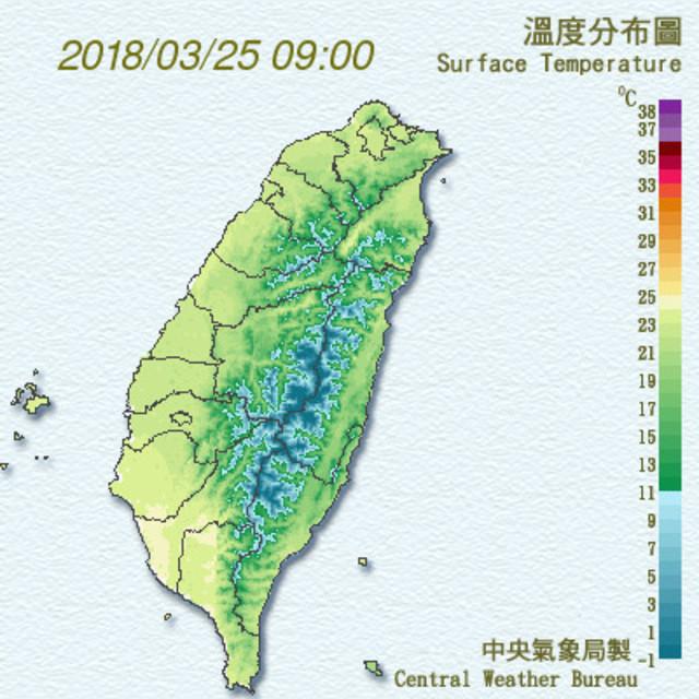 三月颱今形成 未來一周日夜溫差天 | 照片取自中央氣象局