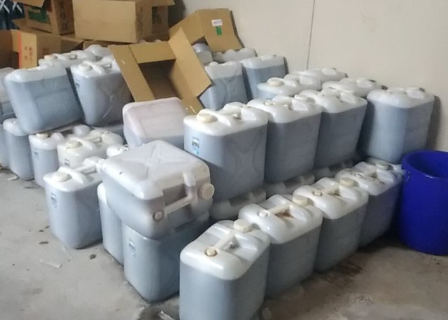 警偵破土城安毒工廠 3噸成品市值60億量驚人 | 台北市警局提供