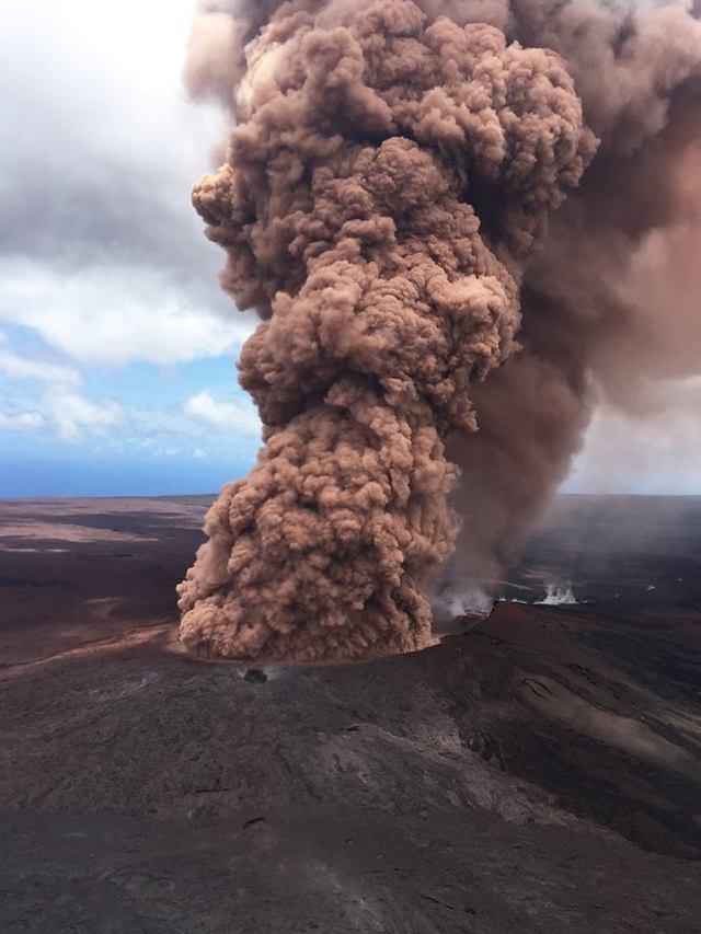 夏威夷火山爆發 熔岩災情尚無法獲控制 | 奇勞亞火山(翻攝美國地質調查所)