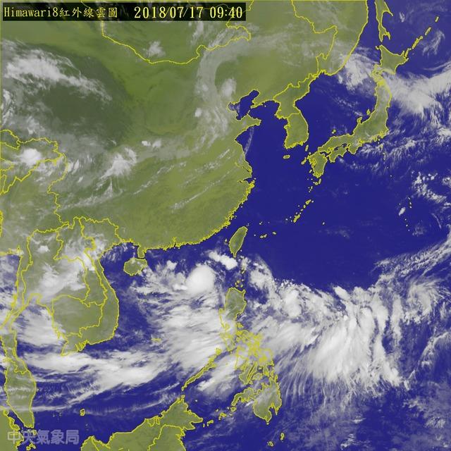 菲律賓東方海面上有熱帶擾動,恐將成颱(氣象局提供)