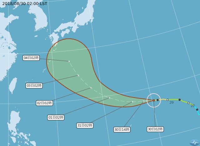 南高屏5縣市大雨特報 今起雨勢趨緩 | 燕子28日形成,今年第21颱風。(氣象局提供)