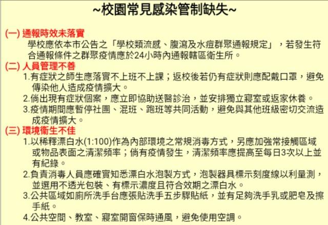 高市衛生局將對未落實防疫之大專院校開罰(高市衛生局提供)