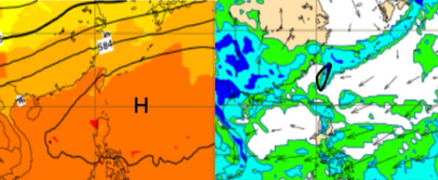 好天氣到週四 週五起東北風增強   週五東北風南下,中部以北19度。(翻攝洩天機教室)