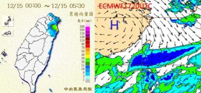 今東北風減弱全台回溫 明晚首波冷氣團更強! | 下週一各地轉晴朗無雲。(翻攝洩天機教室)