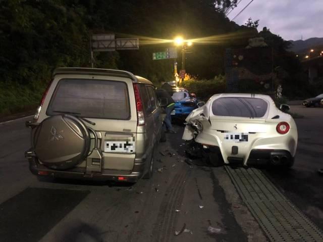 孝子賠償獲援助 BBC報導台灣人同情心 | 法拉利超跑被撞,孝子賠償達千萬元。(翻攝畫面)