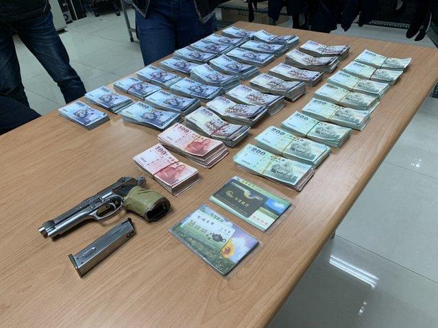 主廚搶劫贖90萬愛車 贓款分給3女人 | 游甯鈞搶銀行得手334萬6400元。(警方提供)