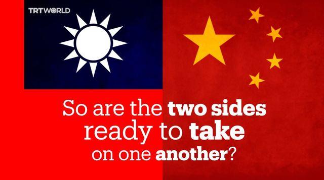 「世界上有兩個中國?」 網友讚:土耳其影片拍得好 | 影片最後以「所以,兩邊準備好槓上對方了嗎?」做結尾。(翻攝自TRT World臉書粉絲專頁)