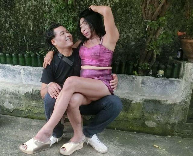 席丹和老公的甜蜜合照。(翻攝臉書)