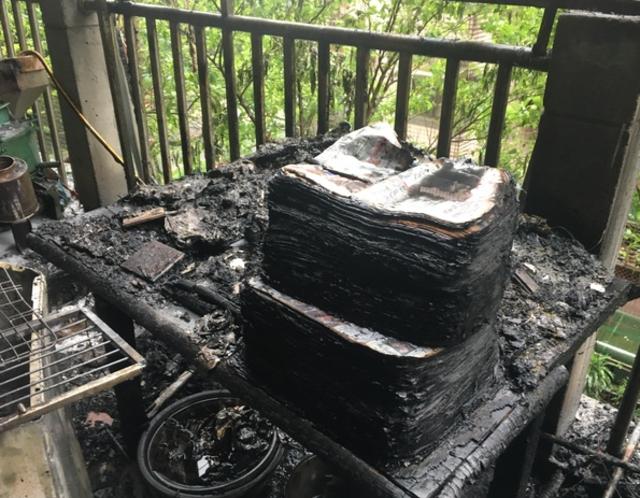 基隆社區清晨火警 疑電暖爐釀災幸無人傷 | 起火原因初步研判是使用電暖爐不慎所引起。(消防局提供)