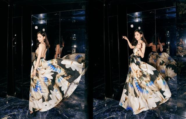佟麗婭9日出席服裝品牌活動。(翻攝佟麗婭工作室微博)
