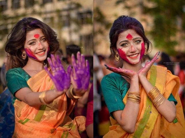 印度碧綠眼正妹 網友:眼睛有十萬伏特 | 印度女孩長相精緻,瞳色更是少見的碧綠色。(翻攝joyeeta_sanyal IG)