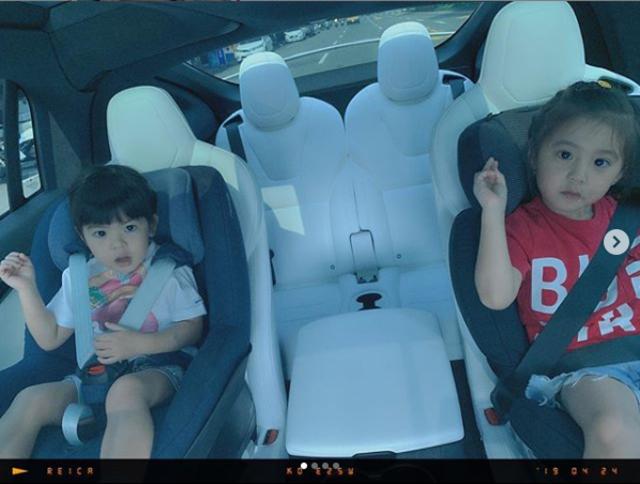 修杰楷出車禍 咘咘Bo妞都在車上... | 修杰楷車禍當下,2個女兒都在車上。(翻攝修杰楷IG)