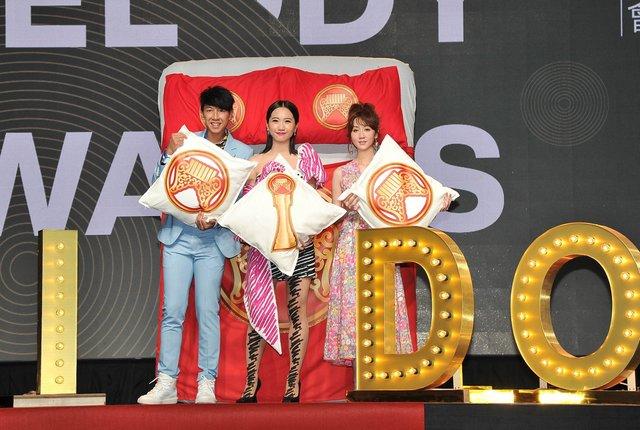 第30屆金曲獎頒獎典禮、星光大道主持人合影。(翻攝金曲GMA臉書)