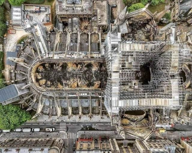巴黎聖母院上個月慘遭祝融。(資料照片)