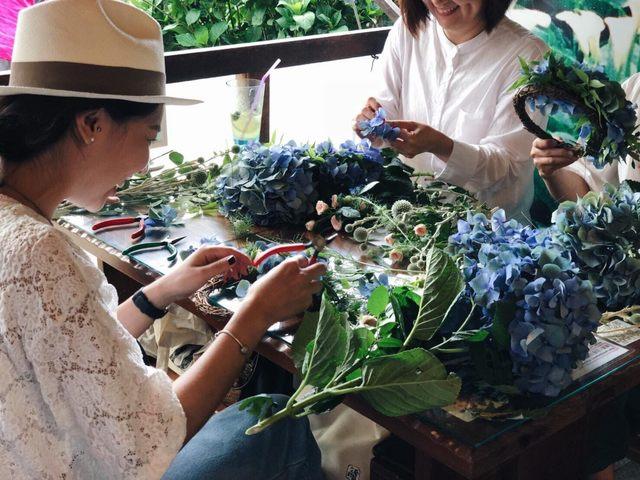 竹子胡繡球花季 北市推「花藝小旅行」 |