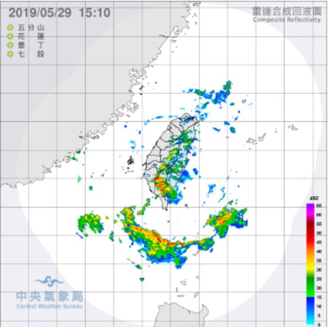南台灣6縣市雨不停 屏東升級豪雨警報 | 氣象局最新雷達圖。(氣象局提供)