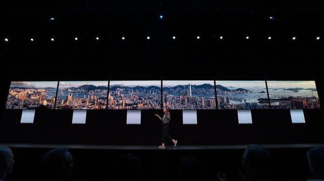 告別「垃圾桶」!怪獸級的Mac Pro秋季上市 | Mac Pro可安裝6個6K螢幕,組成1.2億像素的陣列(圖翻攝自 網路)